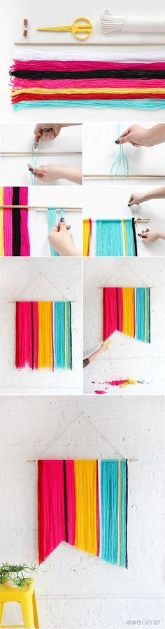 DIY Yarn Banner. Get the directions