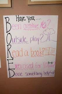 "Perfect to hang on the fridge for the kids - anytime I hear an ""I'm bored,"" I'll just point to this."