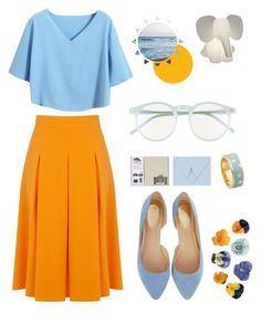 """""""Yellow&Blue"""" by kiiwix ❤ liked on Polyvore featuring Wildfox, Oasis, Miss Selfridge, Chicnova Fashion and Astley Clarke"""