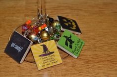 Halloween Wine Charm Set by YourSweetEscape on Etsy