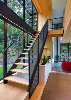 Thellend Fortin Architects design a home in the Laurentian forest near Montreal, Canada