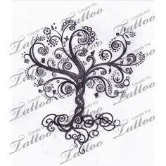Tree of Life Tattoos for Women | Whimsical Tree Of Life Swirly Createmytattoocom