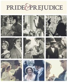 'Pride and Prejudice' on film throughout the years. I wish all were available for viewing.