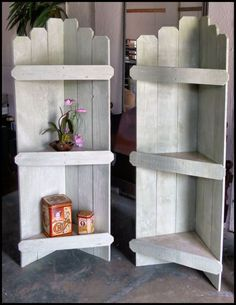 Made from old pallets. I love these for my back porch