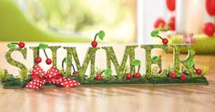 L'été est bien là! Summer Deco, Shops, Crown, Color, Hobbies, Summer, Tutorials, Creative, Crafting