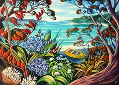 Great range of wall art for sale. Featuring many art prints by top NZ artists, including Rita Angus and more. New Zealand Art, Nz Art, Maori Art, Kiwiana, Country Scenes, Wall Art For Sale, Bird Illustration, Framed Prints, Art Prints