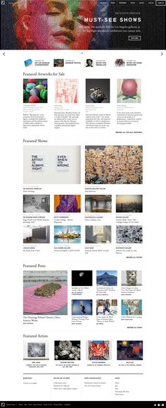 Artsy #webdesign