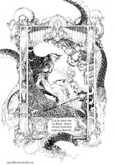 Eowyn and the Nazgul, Allison Stanley on ArtStation at https://www.artstation.com/artwork/eowyn-and-the-nazgul
