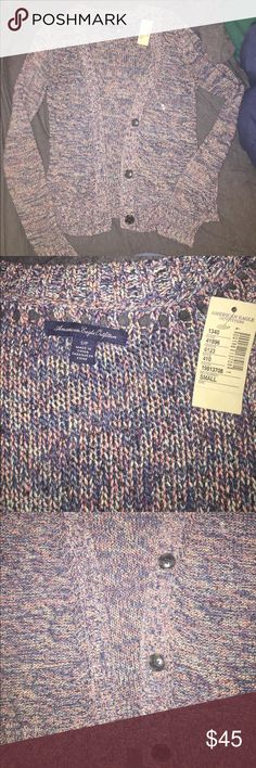 """Colorful Cardigan Brand spanking new Cardigan from the American Eagle Flagship store. Can't believe I never wore it, and it was the hottest thing on the floor at the time. Still has tags and all. Used to call it """"The Fruity Pebble"""" Cardigan. American Eagle Outfitters Sweaters Cardigans"""