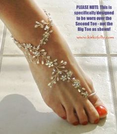 "Kirks Folly - Product Details  Barefoot Bride Ankle Bracelet from ""Kaena's Seaview Fairyland Wedding"" where the bride wore these ankle bracelets.  So elegant!"