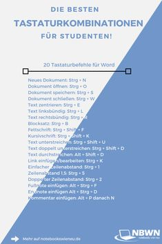 Keyboard shortcuts for students: Word Whether writing homework, . - Keyboard shortcuts for students: Word Whether writing homework, taking notes, preparing p - K Om, La Formation, Keyboard Shortcuts, Junior Year, Psychology Facts, Forensic Psychology, Cognitive Psychology, Freshman Year, Study Motivation