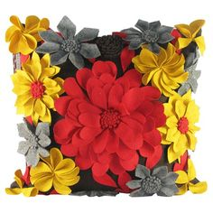 I pinned this Felt Spring Pillow from the Design Accents event at Joss & Main!