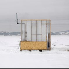 for those who don't know - this is an ice fishing house