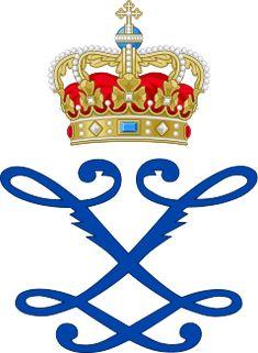 Royal Monogram of Queen Louise (Frederick VIII) of Denmark