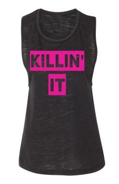 Killin' It Muscle-T - Black Slub