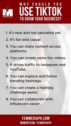People of all ages are gaga over TikTok. And with the advertising floodgates wide open, brands are too. Did you know that Nike, Skittles, Fenty Beauty, Pepsi, and Universal Pictures are among the big companies that have started using TikTok?  Here's a list of reasons why you should consider using TikTok for promotion.  You will find Digital Marketing help in us, just visit our website to know more - femmediaph.com  #femmediaph #GoBeyondHorizon #DigitalMarketing Business Sales, Universal Pictures, Growing Your Business, Pepsi, Knowing You, Digital Marketing, Promotion, Encouragement, Advertising Ideas