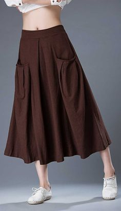 Maxi skirt women's skirt Brown Skirt long skirt C872 от YL1dress
