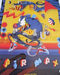 "NIKE VINTAGE POSTER AIR MAX ARTIST SHERYO AND THE YOK  ""RARE"" 23 X 18"""