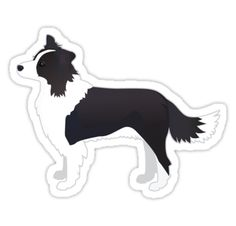 Border Collie Black Dog Breed Illustration Silhouette • Also buy this artwork on stickers, apparel, phone cases, and more.
