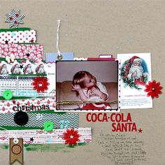 Coca-Cola+Santa+by+Corrie+Jones+for+Jenni+Bowlin+Studio - Scrapbook.com