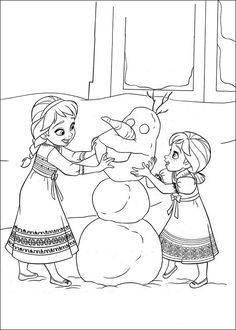 Frozen Fargelegging. Tegninger 11