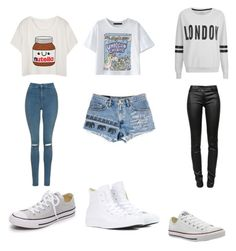 """""""Untitled #72"""" by lesleygirl on Polyvore featuring Topshop, Converse, WithChic, ONLY and T By Alexander Wang"""