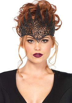 Leg Avenue Women's Fairy Tale Queen Crown, Black, One Sizes Fit Most The Mask Costume, Costume Hats, Theme Halloween, Halloween Face Mask, Halloween Cosplay, Halloween Accessories, Costume Accessories, Leg Avenue Costumes, Gothic Crown