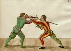 Two Entries from which Two Cuts Proceed Medieval Books, Medieval Manuscript, Historical European Martial Arts, Fight Techniques, Landsknecht, Sword Fight, European History, 16th Century, Art Reference