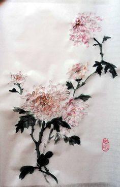Суми-е - медитативное рисование. Хризантема - Demiart