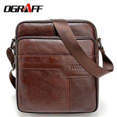 OGRAFF sacos de Homens mensageiro saco de couro genuíno ocasional pequeno handbag designer bolsa de ombro crossbody bag homens de negócios de luxo vintage