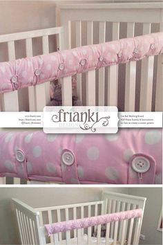 Cot Rail Teething Guard/Cover PDF Photo Tutorial & Instructions for your own custom pattern Sick of the tiny teeth that bite into the rail on that