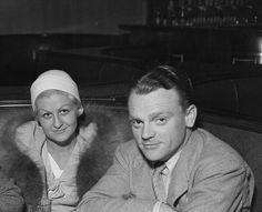 James Cagney and his wife,'Billie', out on the town in the 1930's.
