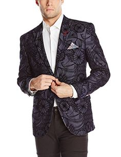 Bogosse Men's Tibo Blazer 83, Navy Blue Jacquard, 2 (Small) Bogosse ++You can get best price to buy this with big discount just for you.++