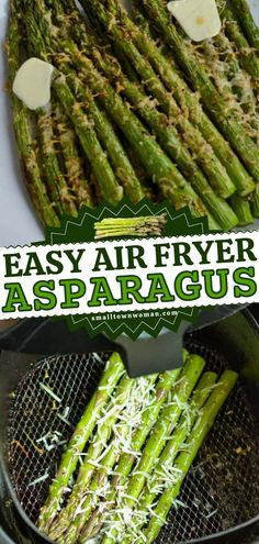 Learn how to cook asparagus in the air fryer! You already have the ingredients on have for this Thanksgiving dinner recipe. In less than 7 minutes, you can have a healthy, delicious Thanksgiving side dish! So quick and easy! Thanksgiving Dinner Recipes, Thanksgiving Side Dishes, How To Cook Asparagus, Dinner Dishes, Side Dishes Easy, Learn To Cook, Vegetables, Cooking, Healthy