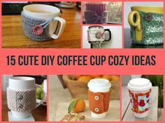 15 Cute DIY Coffee Cup Cozy Ideas