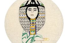 Juxtapoz Magazine - Reena Makwana's Embroidered Illustrations