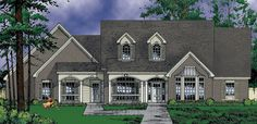Country House Plan # 371155  one story
