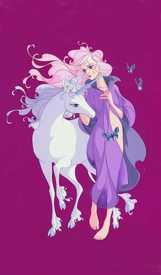 "negativespacious: "" Original art from The Last Unicorn by lead animator Tsuguyuki Kubo. """