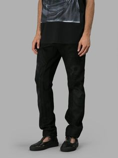 GIVENCHY  Black Double Jesus Print Jeans. #givenchy #cloth #jeans