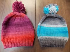 Anne knit these hats for her grandsons using Lang Merino+ Color.