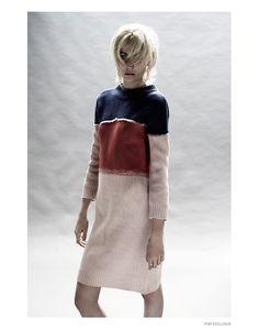 Kat Grube wears knitwear autumn style Pose for Photoshoot