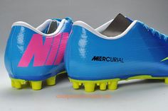 Nike Mercurial 2013 AG Soccer Shoes Cheap Blue Fluorescent Green