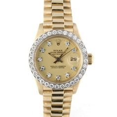 【R's】ロレックスデイトジャスト6913G18KYG10Pダイヤ 時計 Watch rolex ¥658000yen 〆05月12日
