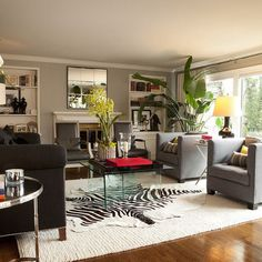 Living Room Gray Black White Design, Pictures, Remodel, Decor and Ideas - page 15