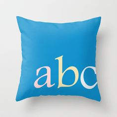 ABC Throw Pillow by TT+SMITH by Haina - $20.00