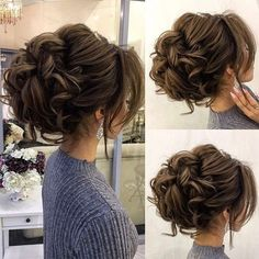 Drop-dead gorgeous loose messy updo wedding hairstyle for you to get inspired. Today's beautiful wedding hairstyles are the hottest bridal beauty trends Homecoming Hairstyles, Wedding Hairstyles For Long Hair, Wedding Hair And Makeup, Bride Hairstyles, Hair Makeup, Hairstyle Ideas, Makeup Hairstyle, Updos For Fine Hair, Curly Updos For Medium Hair