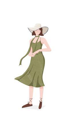 Wedding Illustration, Illustration Art, Fat Burning Home Workout, Green Art, Pretty Little, Painting & Drawing, Fashion Art, Character Art, Graphic Art