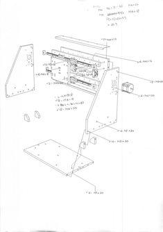 desenho de montagem do eixo X