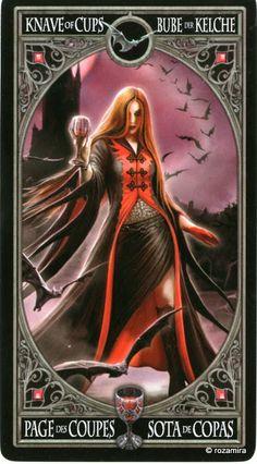 Le valet de coupes - Tarot gothique par Anne Stokes