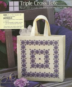 Triple cross tote 1/3